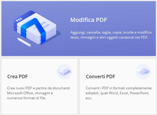 PDFEditor it | Modifica Testo e Immagini del PDF